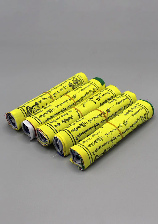 Five Rolls of Victory Mantra Prayer Flags