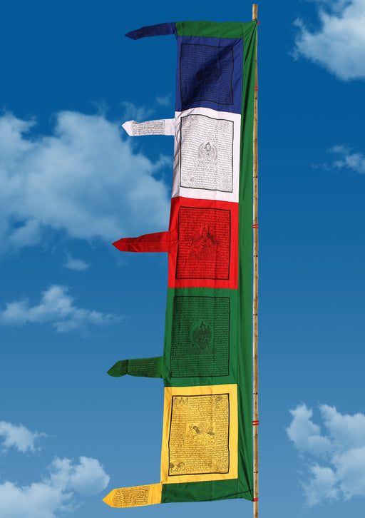 Traditional High Quality Buddhist Vertical Prayer Flags