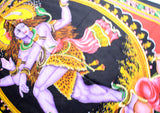 Hindu Lord Shiva Printed Cotton Tapestry Wall Hanging - NepaCrafts