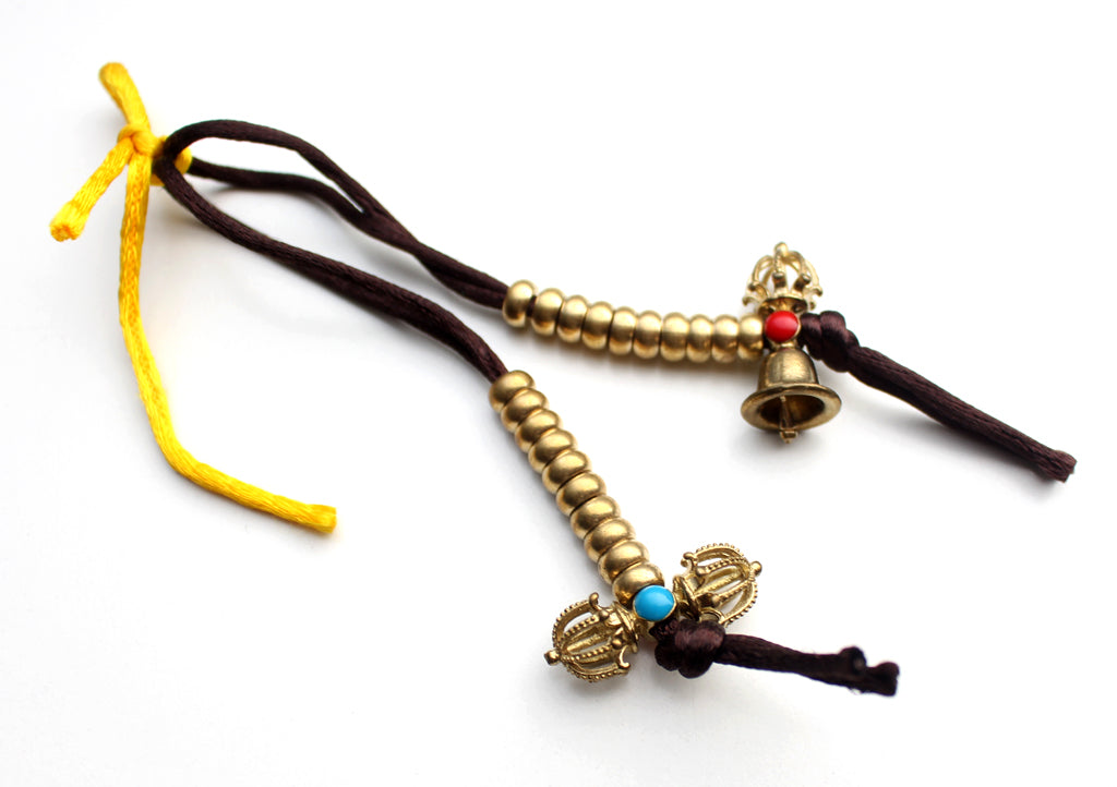 Tibetan Bell and Dorjee 108 Prayer Mala Counter - nepacrafts