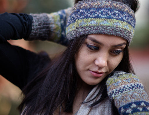 Multicolored Woolen Sherpa Head Band - nepacrafts