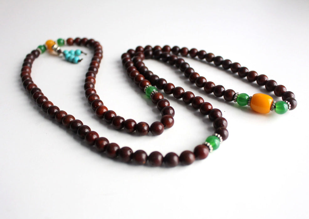 Natural Rosewood Stretchable Prayer Mala - nepacrafts