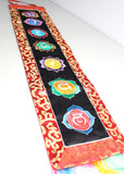 Healing Seven Chakra Banner Embroidered in Polyester Brocade