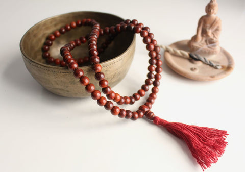 Rosewood Beads Tassel Prayer Mala - NepaCrafts