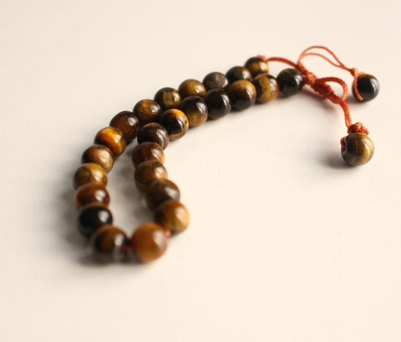 Tiger's Eye Energy Wrist Mala - nepacrafts