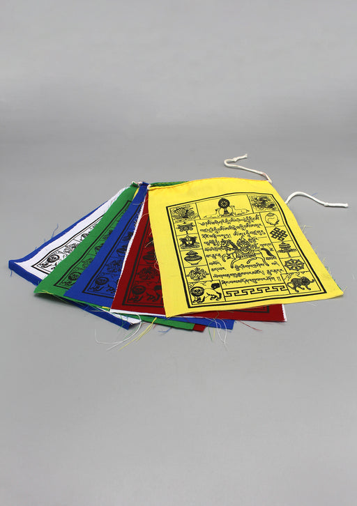 Auspicious Symbol Traditional Windhorse Prayer Flags