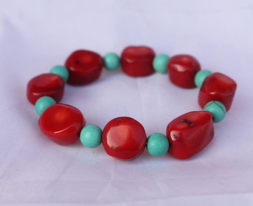 Stretchable Coral Bracelet - nepacrafts