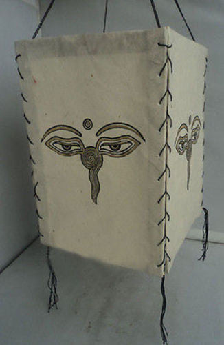 Buddha Eyes Lokta Paper Lamp Shades - nepacrafts