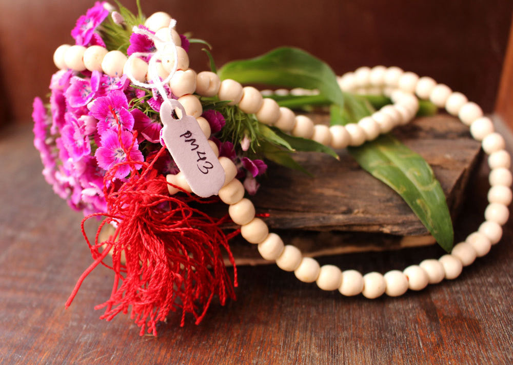 White Bone Beads Prayer Mala - nepacrafts