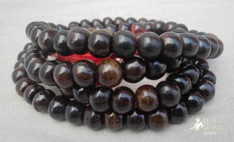 Plain Black Bone Japa Mala