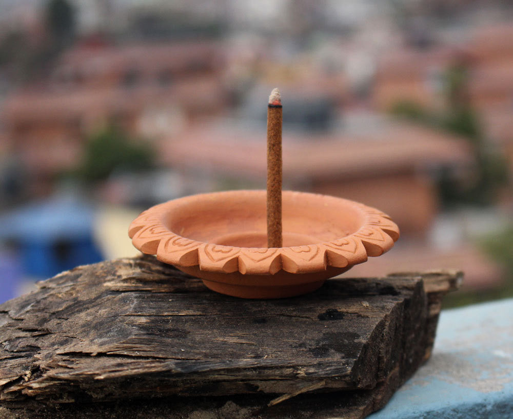 Spiral Clay Incense Burner - nepacrafts