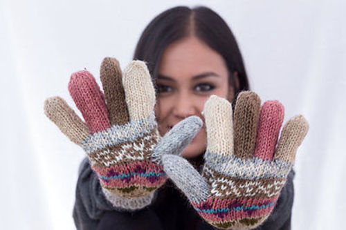 Handknitted Full Finger Woolen Gloves - nepacrafts