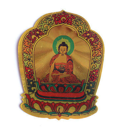 Golden Tibetan Deity Stickers - nepacrafts