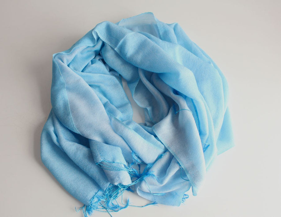 Silk Blended Water Pashmina Shawl-Niagara - nepacrafts