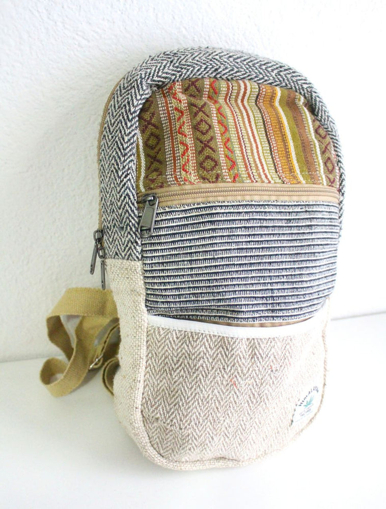 Medium Sized Cotton Blended Hemp BackPack - nepacrafts