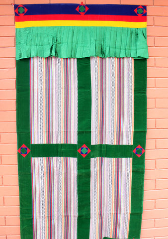 Multicolor Bhutanese Woven Fabric Cotton Door Curtain Cover