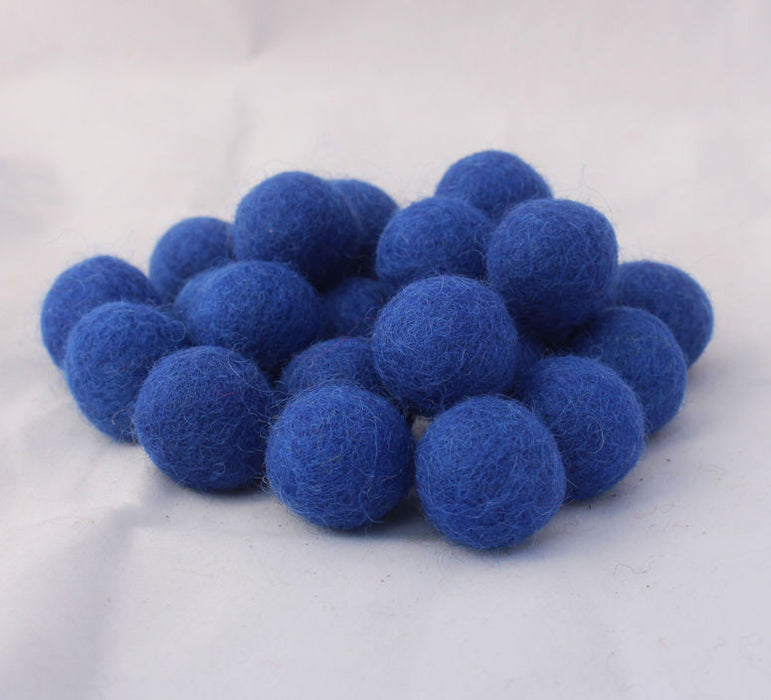 2 cm/20mm Felt Balls-Red, Black, Yellow, Blue, Gray - nepacrafts