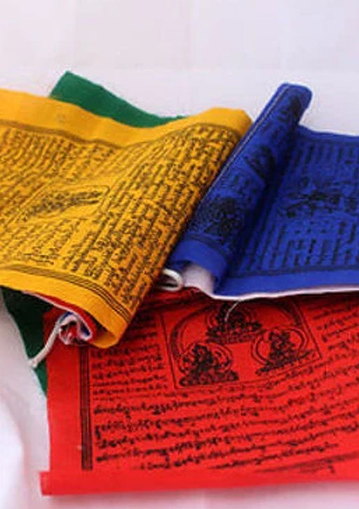 5 Rolls of Cotton Buddhist Tibetan  Prayer Flags