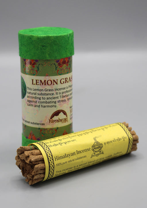 Lemon Grass Mini Tibetan Tube Incense Sticks - nepacrafts