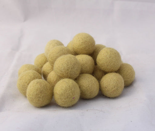 2cm/20mm Felted Wool Balls-Green, Beige, Pink, Brown - nepacrafts