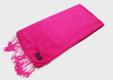 Fuchisa vivid purplish red color Water Pashmina Shawl - NepaCrafts
