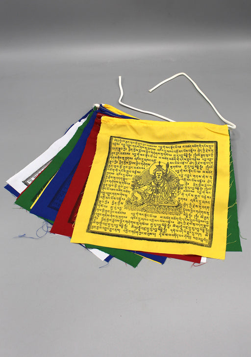 Wooden Block Printed Guru Padmasambhava Prayer Flags