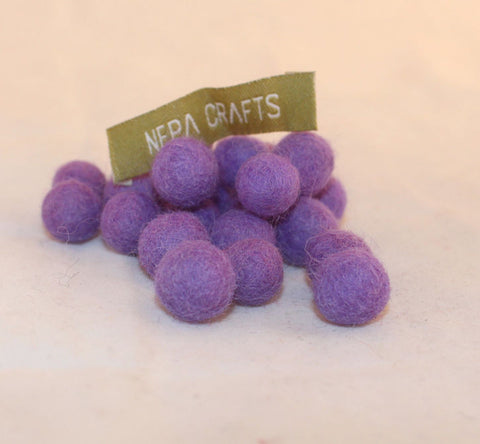 1cm Soft Felt Balls-Purple, Yellow, Pink, Dark Pink
