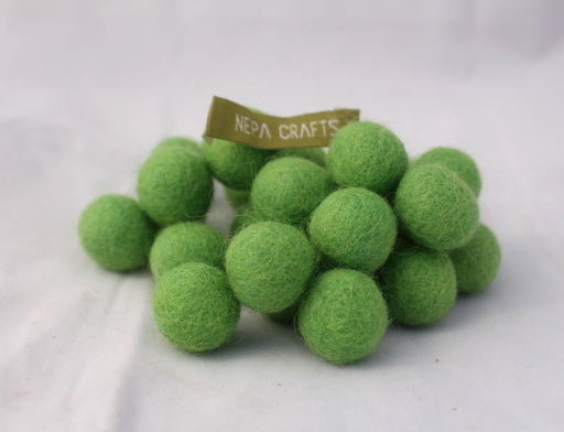 2 cm/20mm Felt Balls-White, Green,Gray, Turquoise, Purple - nepacrafts