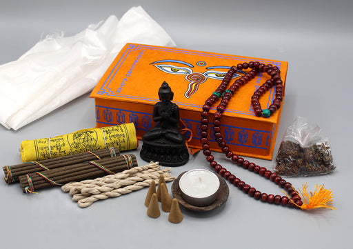 Buddha Eyes Travelling Altar Incense Gift Pack - nepacrafts