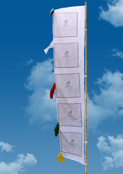 White Tara Printed Tibetan Vertical Prayer Flags