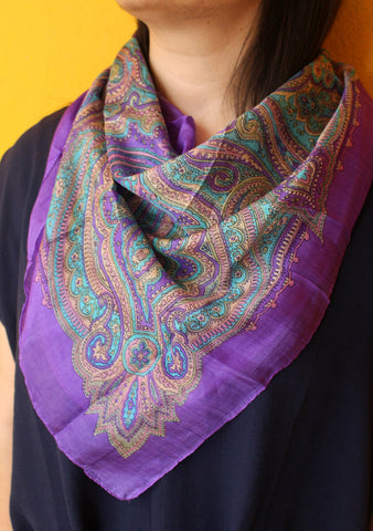 Vibrant Color Soft and Stylish Bandanas Silk Scarves, Summer Accessories - NepaCrafts