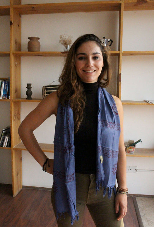 Mini Om Prayer Scarf - nepacrafts