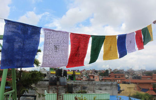 Heavy Cotton Large Tibetan Prayer Flags - nepacrafts