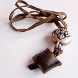 Tibetan Ghau Locket with Leather Amulet