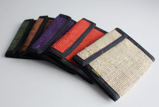 Bi Fold Hemp Wallets - nepacrafts