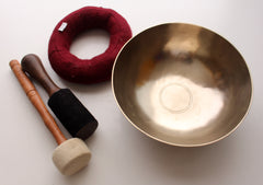 Tibetan Healing Zen Singing Bowl with Cushion and Thick Mallet Note# F - NepaCrafts