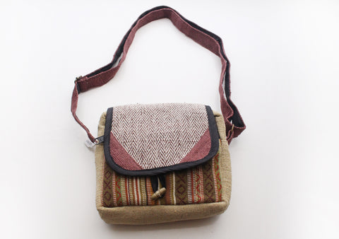 Eco Friendly and Natural Hemp Side Carry Travel Bag