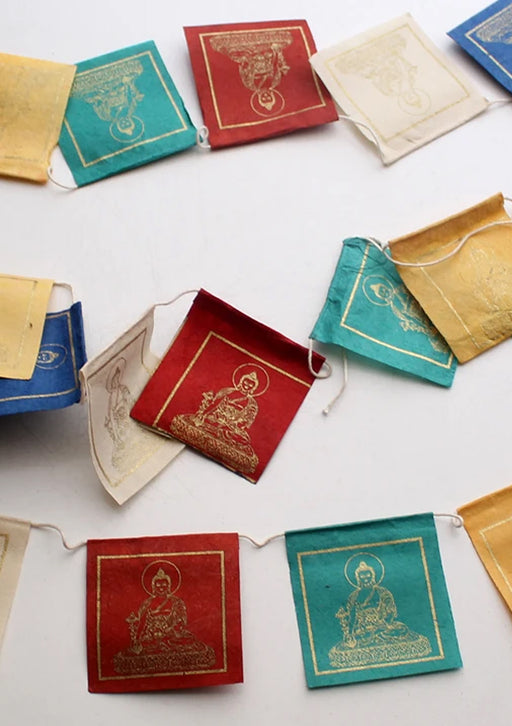 Lokta Paper Medicine Buddha Mini Prayer Flags