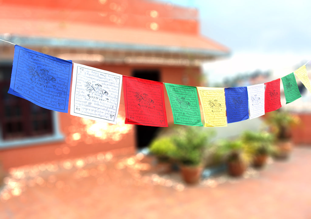 10 Sheets of Traditional Windhorse Prayer Flag - nepacrafts
