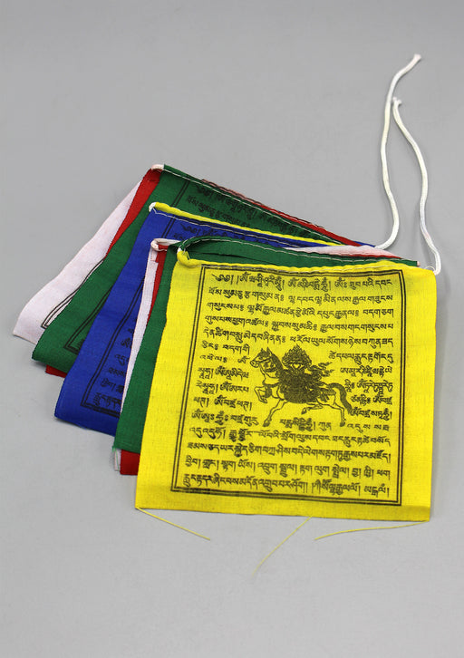 Set of 5 Mini Windhorse Tibetan Prayer Flags