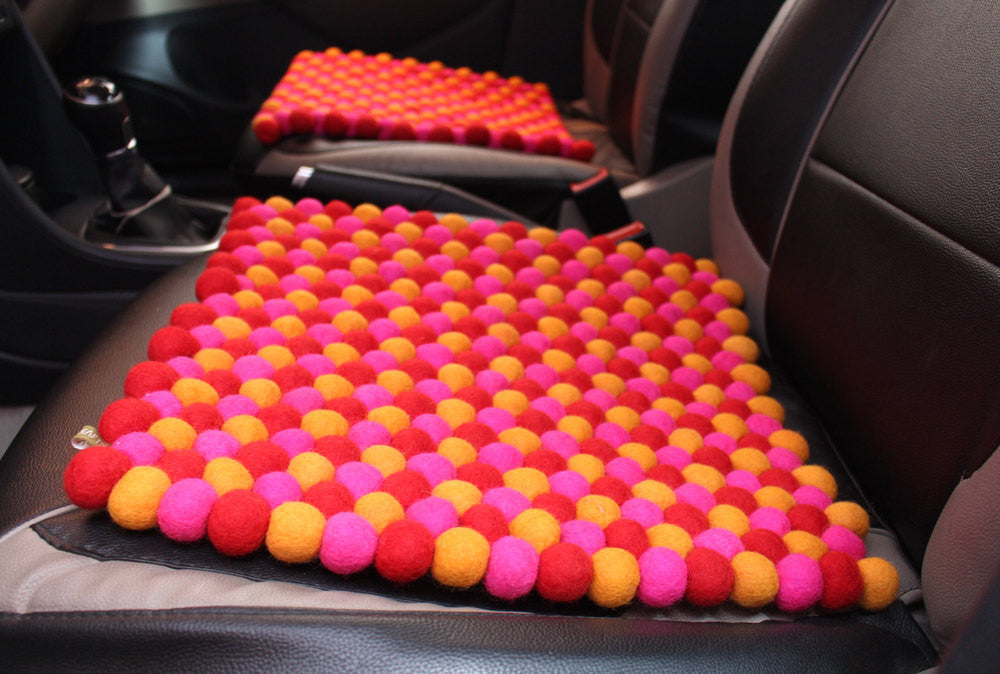 Multicolor Felt Square Mats - nepacrafts