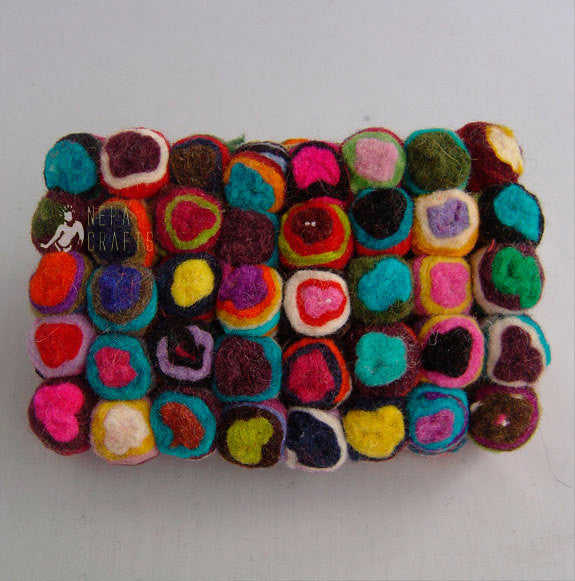 Women's Felt Cherry Clutch Purse - nepacrafts
