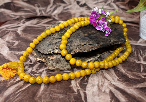 Faux Amber Tassel Necklace - nepacrafts