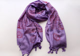 Cotton Yoga Meditation Shawl/Scarf Printed with Deities - NepaCrafts