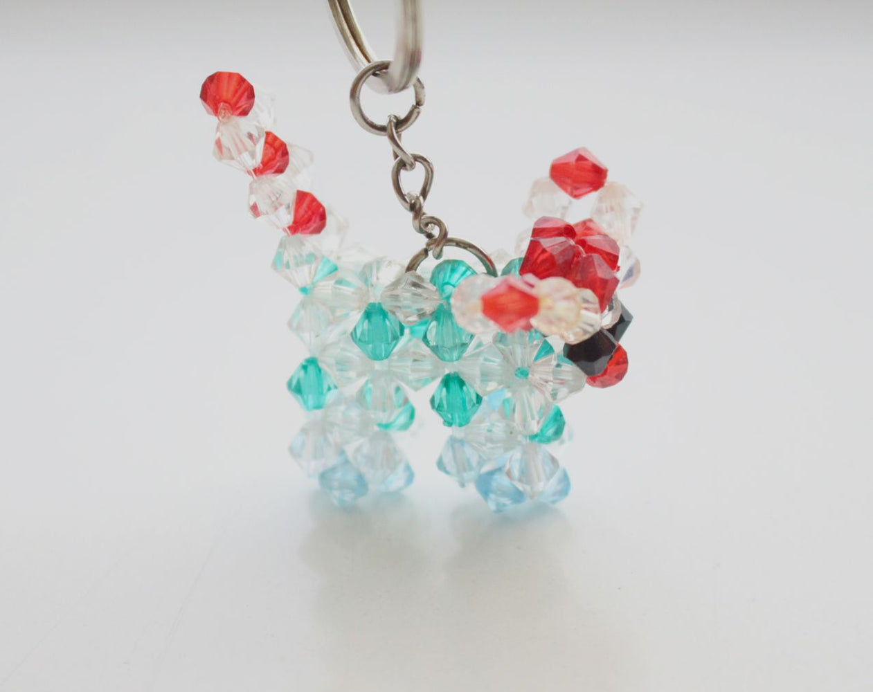 Small Puppy Clear Resin Crystal Key Chain - nepacrafts