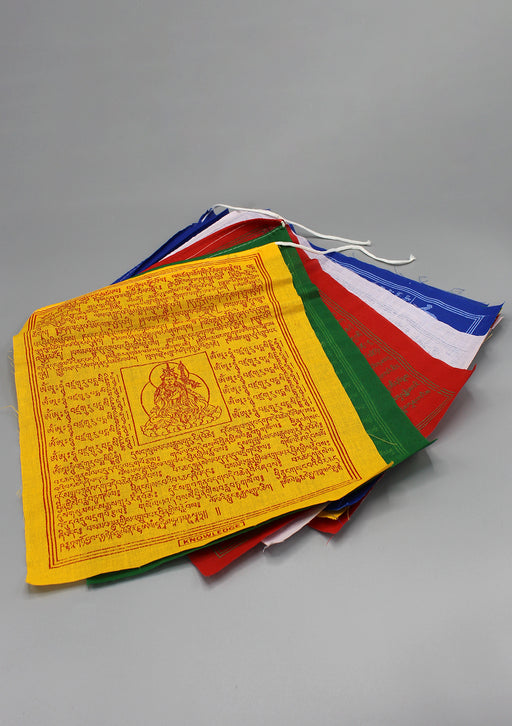 Tibetan Deities with Mantra Buddhist Prayer Flags