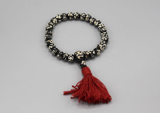 Om Bone Stretchable Tassel Bracelet - nepacrafts
