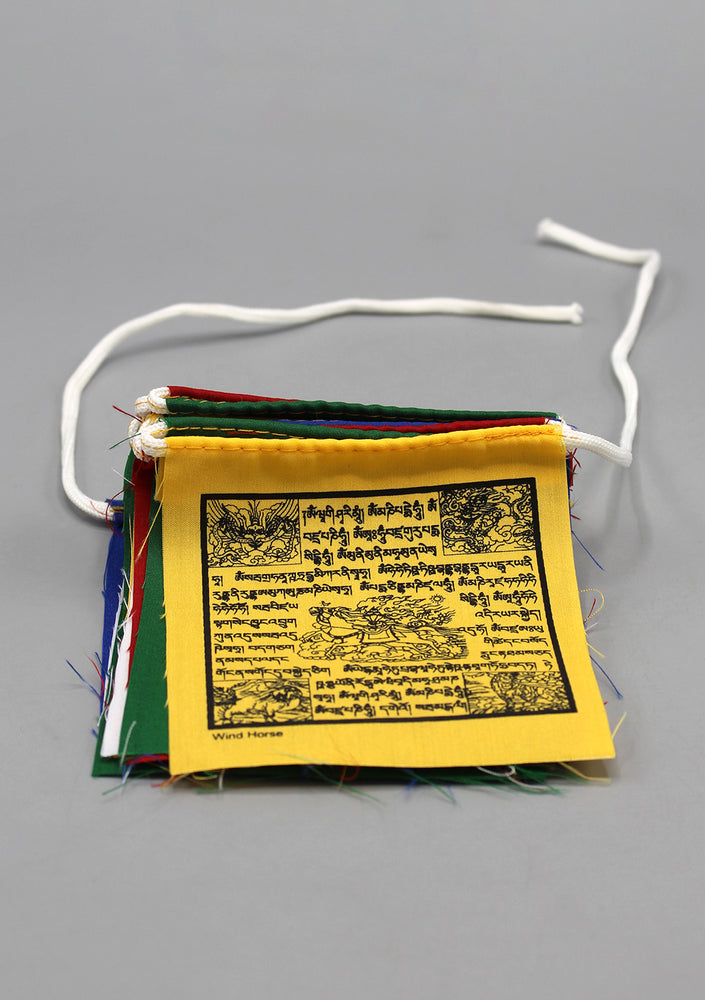 25 Sheets of Tibetan Mixed Dieties and Windhorse Cotton Prayer Flags