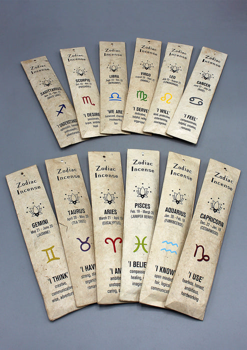 12 Zodiac Sign Incense Gift Pack