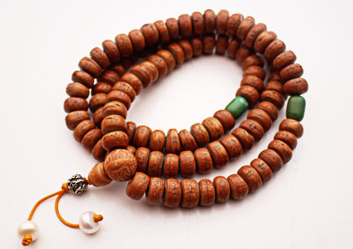Bodhi Seed Mala with Spacer - nepacrafts